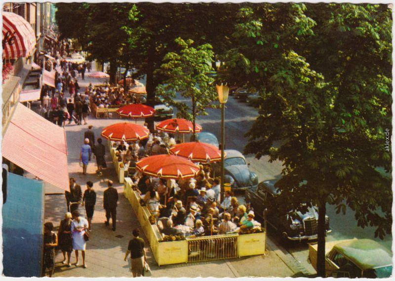 Ansichtskarte Düsseldorf Auf der Königsallee (Kö) 1965