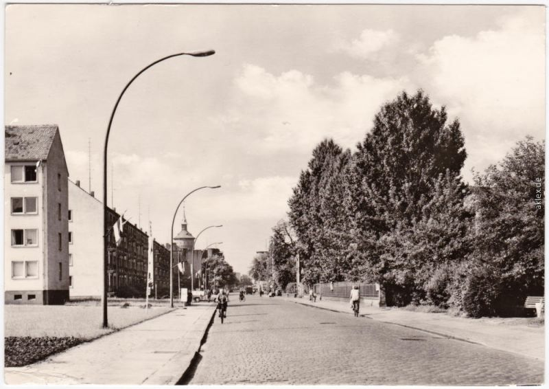 Foto Ansichtskarte Forst (Lausitz) Baršć Berliner Straße 1969