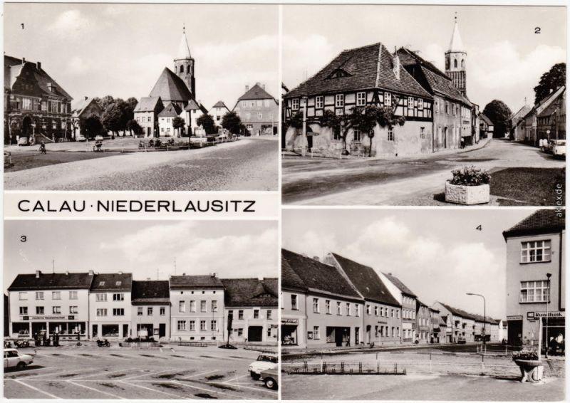 Calau Kalawa 4B Platz des Friedens, Kirchstraße, Cottbuser Straße 1976