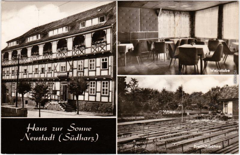 Neustadt Haus zur Sonne (Neustadt Südharz), Weinstube, Freilichtbühne 1971