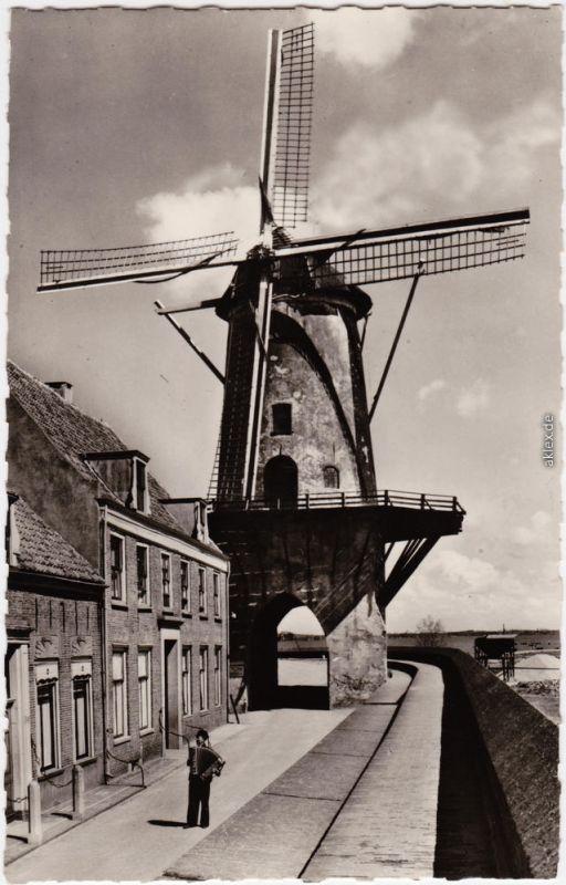 Postkaart Wijk bij Duurstede Holländische Windmühle 1965