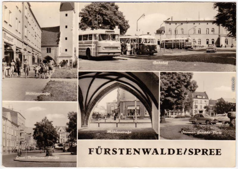 Fürstenwalde Mühlenstraße Straße, Bahnhof - Busse, Ottomar-Geschke-Platz 1972