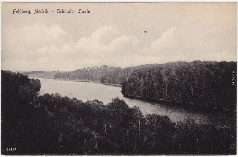 Feldberg Feldberger Seenlandschaft Schmaler Luzin Ansichtskarte 1914