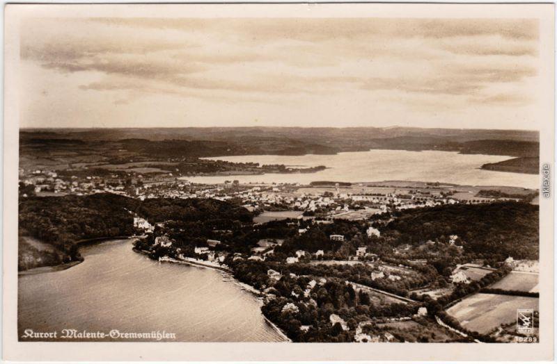 Gremsmühlen Malente Luftbild vom Kurort Malente-Gremsmühlen, Feldpost 1941