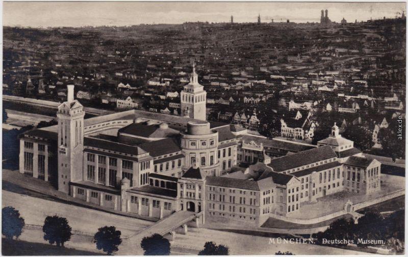 München Deutsches Museum, Luftbild Foto Ansichtskarte 1932