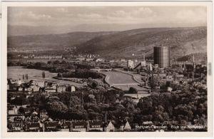 Cannstatt Stuttgart Blick ins Neckartal - Industrieanlagen Fotokarte  1932
