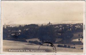 Foto Ansichtskarte Rabenstein Chemnitz Karl-Marx-Stadt Blick auf die Stadt 1927