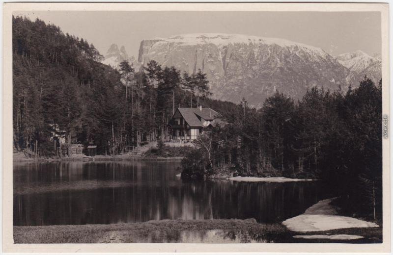 Ritten Lago Costalovara con Sciliar Südtirol  Salten-Schlern Bozen  1928
