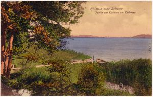Gremsmühlen Malente Holsteinische Schweiz - Partie am Kellersee coloriert 1908