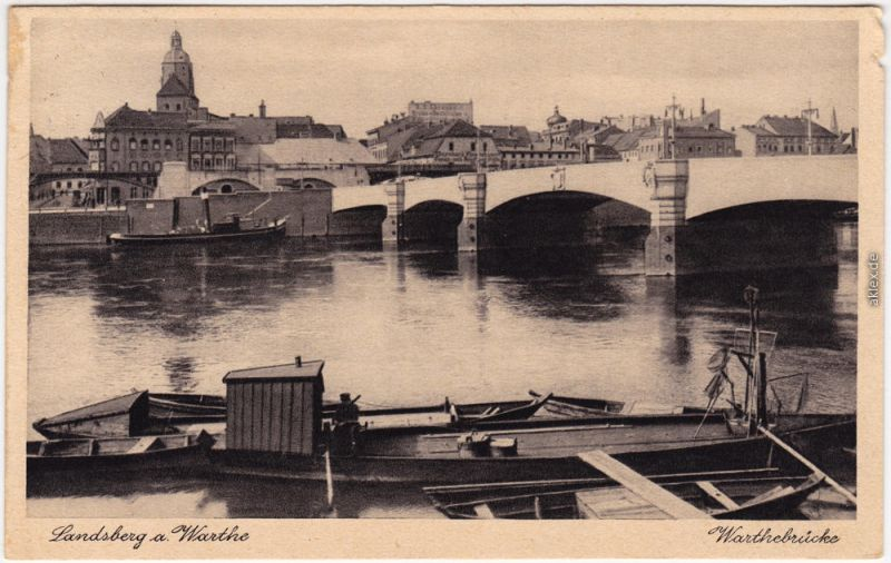 Landsberg (Warthe) Gorzów Wielkopolski Warthebrücke 1930