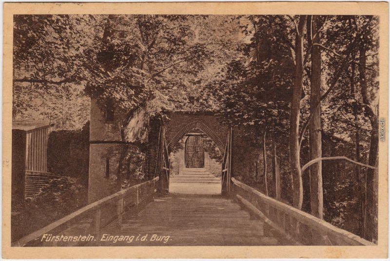 Waldenburg (Schlesien) Wałbrzych Burg Fürstenstein - Eingang 1925