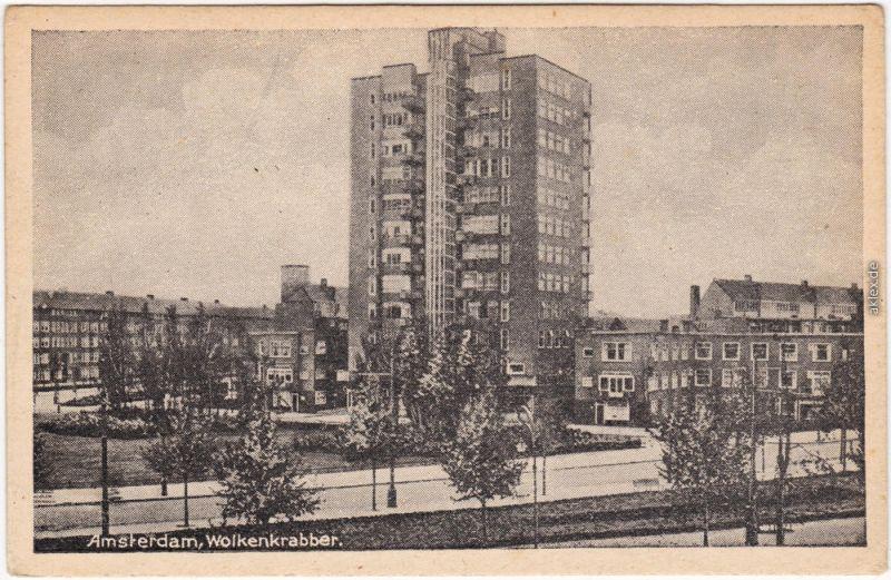 Amsterdam Amsterdam Ansichtskarte Postcard Wolkenkrabber 1965