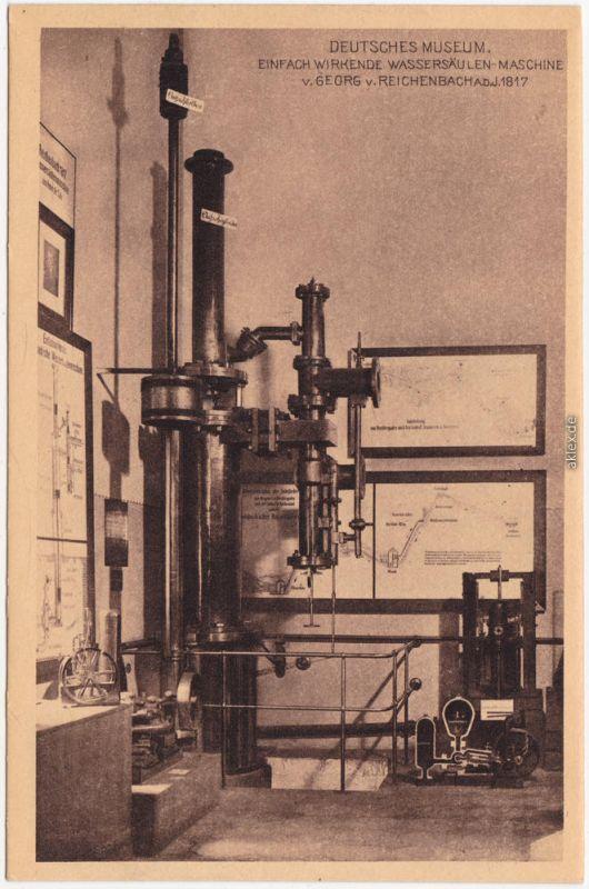 München  Wassersäulen-Maschine, Georg Reichenbach  Deutsches Museum 1924