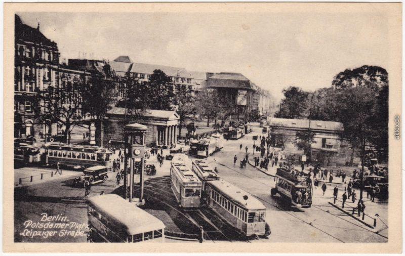 Mitte Berlin Potsdamer Platz, Leipziger Straße - Bu und Straßenbahn 1940