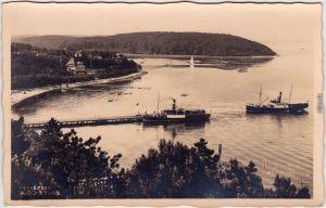 Glücksburg (Ostsee) Lyksborg Ostseebad Glücksburg,  Bootsanlegestelle 1932