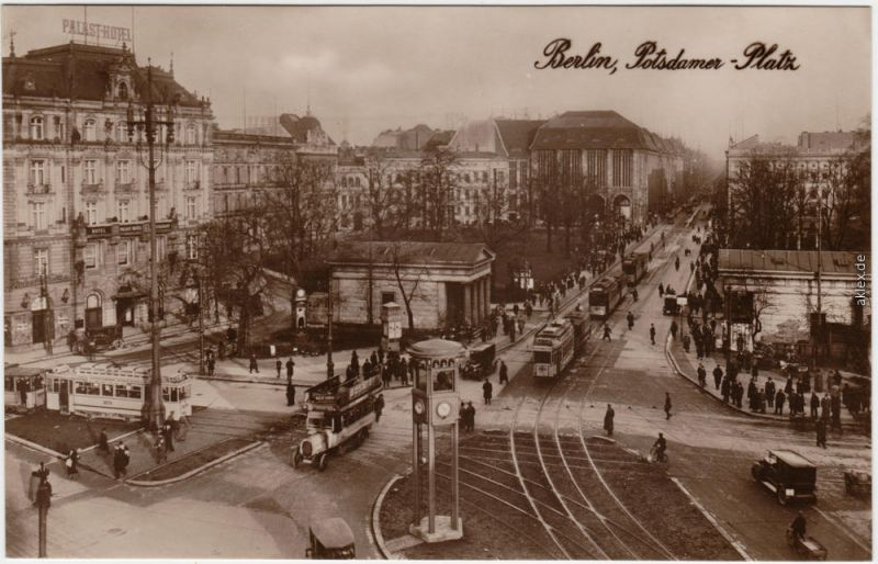 Ansichtskarte Tiergarten Berlin Potsdamer Platz - Stadtverkehr 1928