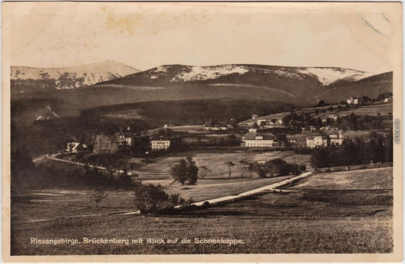 Brückenberg Krummhübel Karpacz Górny Karpacz Weg - Stadt, Schneekoppe 1932