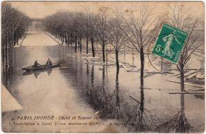 Paris Überschwemmung 28. Januar CPA Vintage Postcard 1910