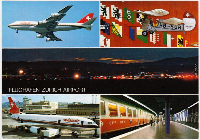 Schweiz - Kanton Zürich, Flughafen, Swissair 1992