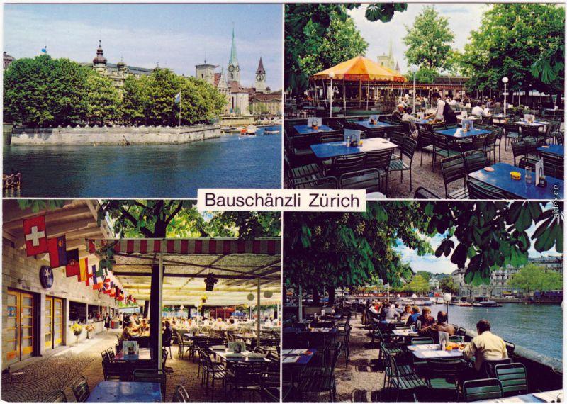 Zürich Zürich, Insel-Restaurant Bauschänzli 1980