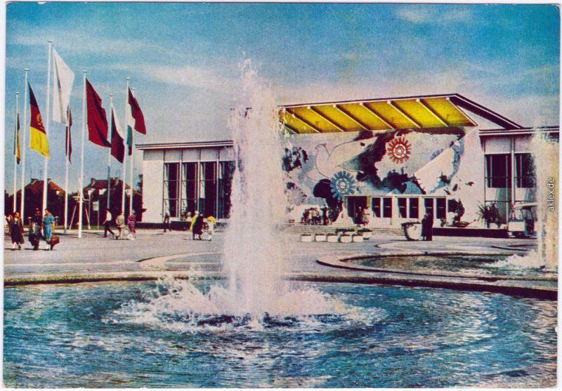 Erfurt Internationale Gartenbauausstellung DDR (IGA) belebt, Springbrunnen 1964