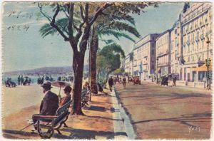 Ansichtskarte Nizza Nice Promenade des Anglais 1932