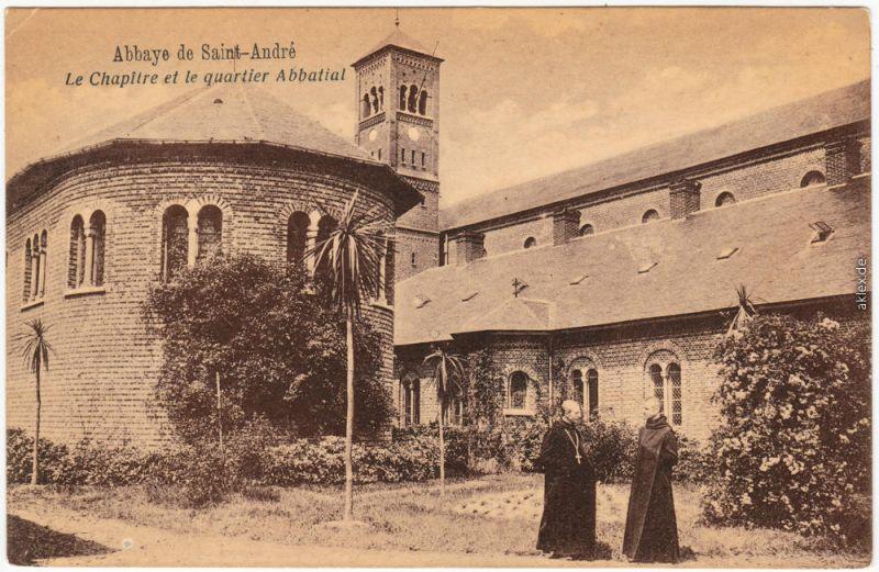 CPA La Côte-Saint-André Abbaye Saint-André 1914