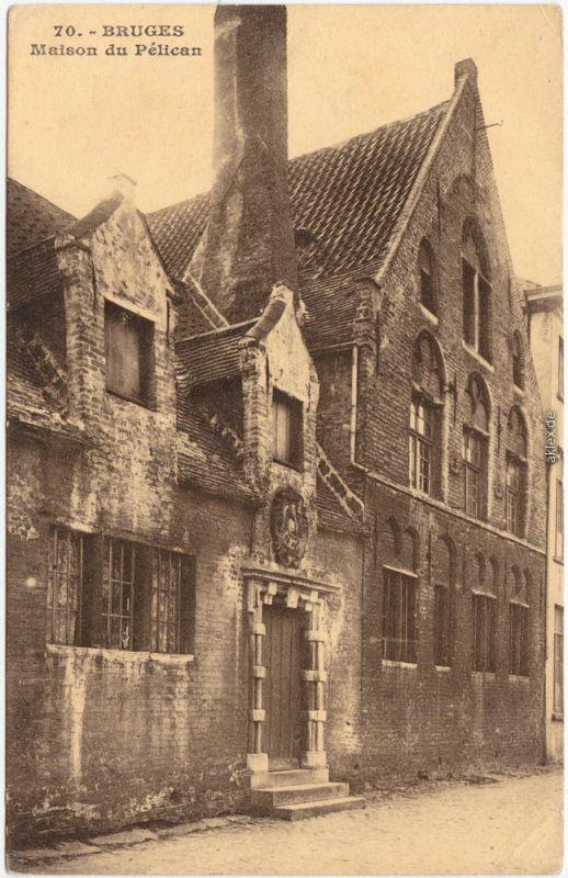 Brügge Brugge Bruges Maison du Pélican 1915