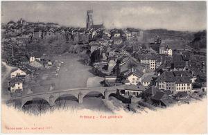 CPA Ansichtskarte Freiburg im Üechtland Fribourg Totalansicht 1909