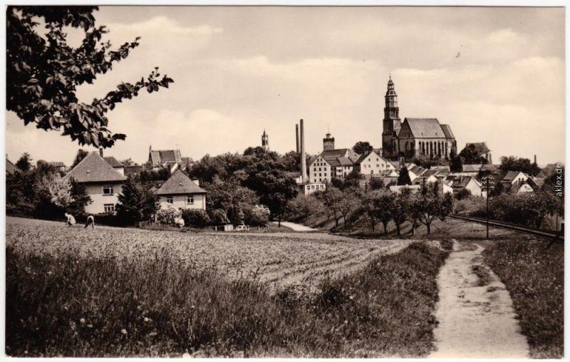 Kamenz Kamjenc Weg in die Stadt Fotokarte Oberlasitz 1968