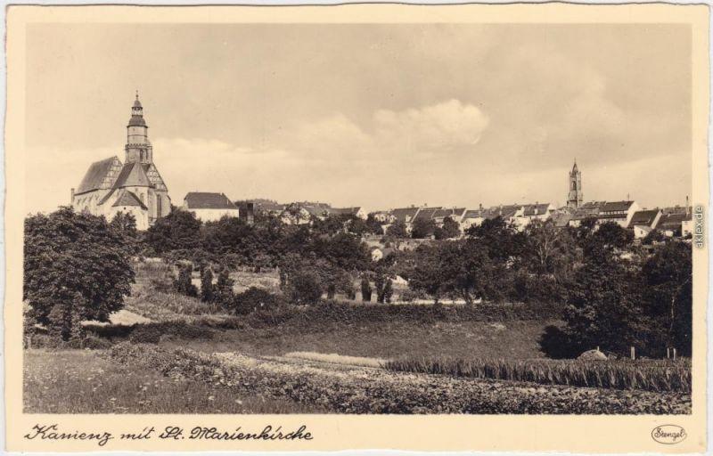 Kamenz Kamjenc Stadt, St. Martinskirche Oberlausitz 1942