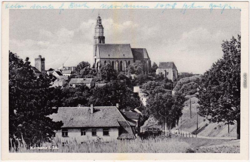 Kamenz Kamjenc Panorama-Ansichten Kamenz Ansichtskarte  1959