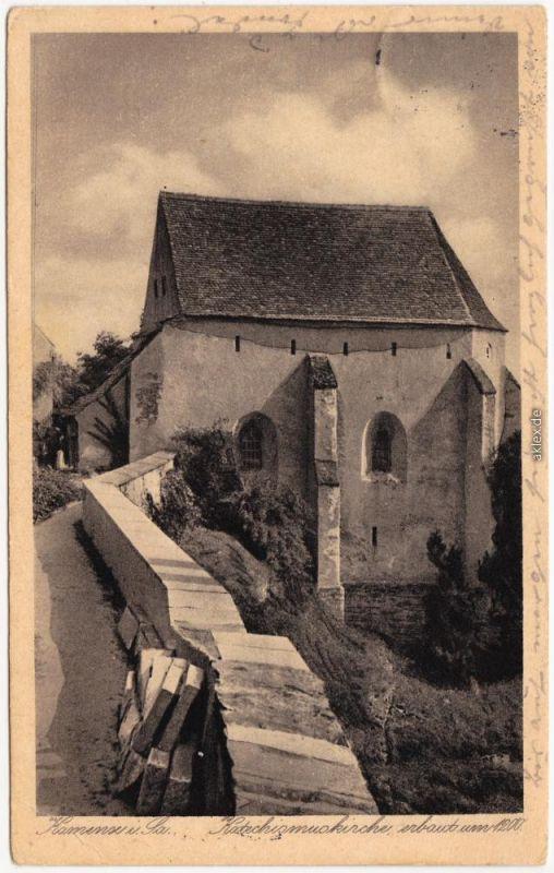 Kamenz Kamjenc Katechismuskirche Kamenz Ansichtskarte Oberlausitz 1930