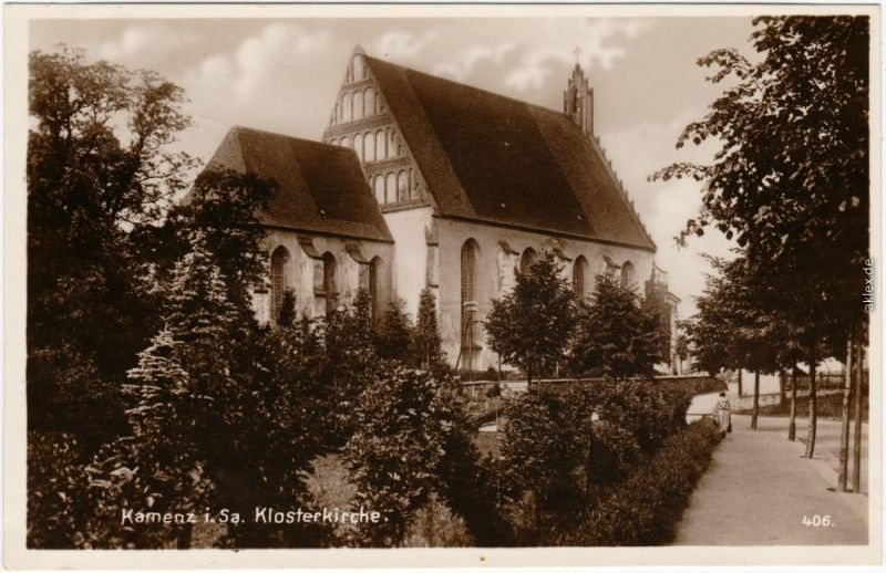 Kamenz Kamjenc Klosterkirche Kamenz Ansichtskarte Oberlausitz 1927