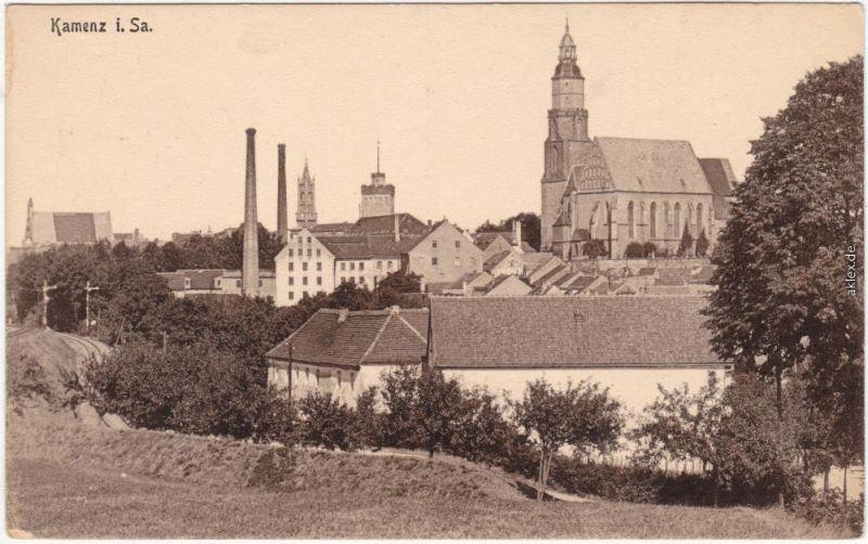 Kamenz Kamjenc Partie an der Stadt - Fabrik Oberlausitz 1917