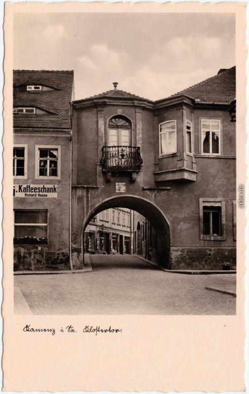 Kamenz Kamjenc Klostertor - Kaffeeausschank Ansichtskarte Oberlausitz  1939