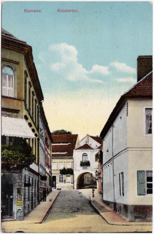 Kamenz Kamjenc Klostertor Straßenpartie Gasthaus Oberlausitz 1914