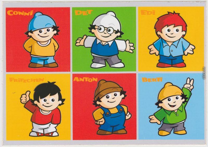 MAINZELMÄNNCHEN: ZDF Conni, Det,Edi, Fritzchen, Anton, Berti 1980