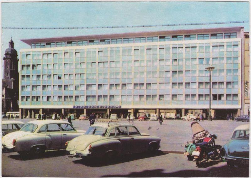 Ansichtskarte Leipzig Leipziger Messe, Messeamt am Markt 1965