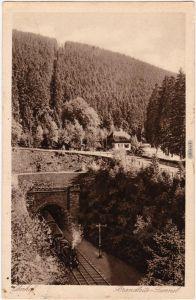 Oberhof (Thüringen) Höhenluftkurort Oberhof  mit Brandleite - Tunnel 1968
