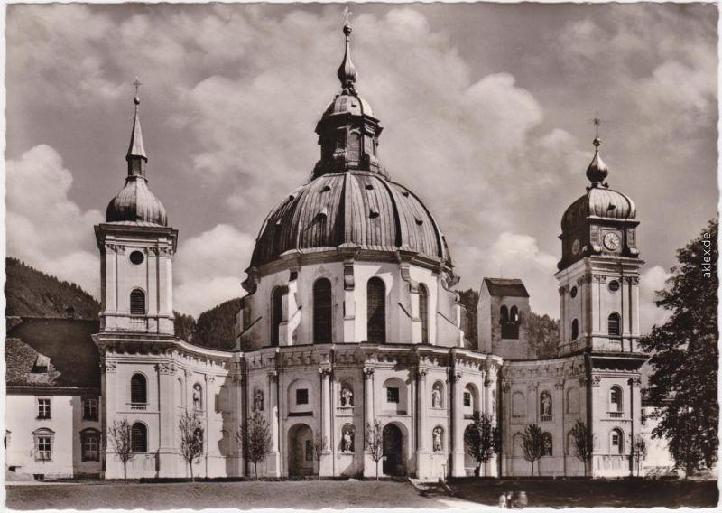 Ettal Benediktinerabtei Ettal, Abteikirche 1965