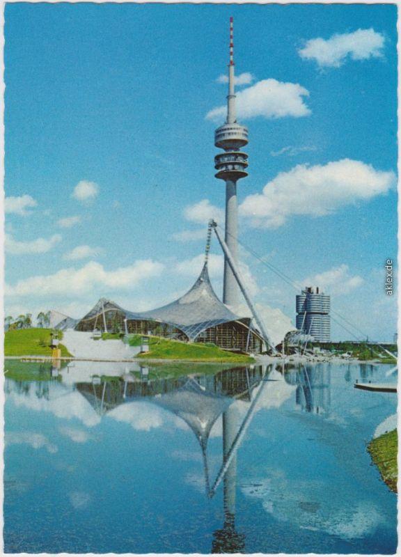 München München Olympiapark, Schimmhalle mit Olympiaturm (290m) 1974