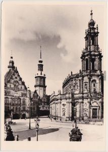 Innere Altstadt-Dresden Hofkirche Dresden vor der Zerstörung 1945/1982