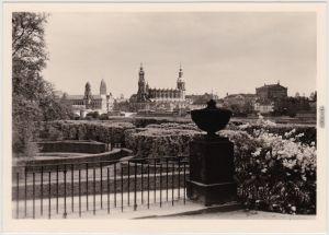 Innere Altstadt-Dresden Hofkirche vor der Zerstörung 1945 Druck:1982