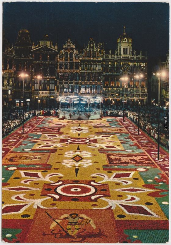 Brüssel Bruxelles Belgien - Brüssel, Grand Place, Tapis de fleurs 1974