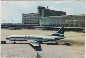 Brüssel Bruxelles Belgien - Brüssel, Luchthaven, Aeroport 1970