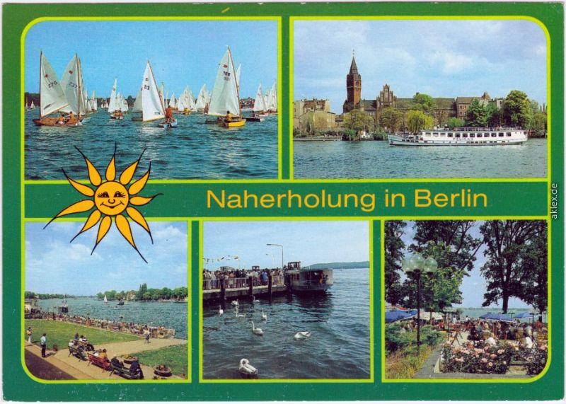 Köpenick Berlin Segelregatta auf dem Müggelsee,  Rathaus, Regattastrecke 1985