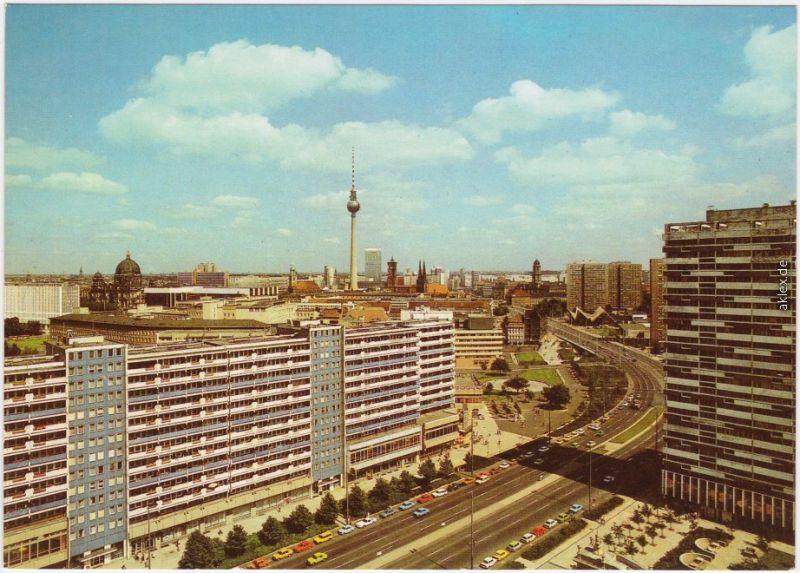 Ansichtskarte Mitte Berlin Blick auf die Leipziger Straße 1988