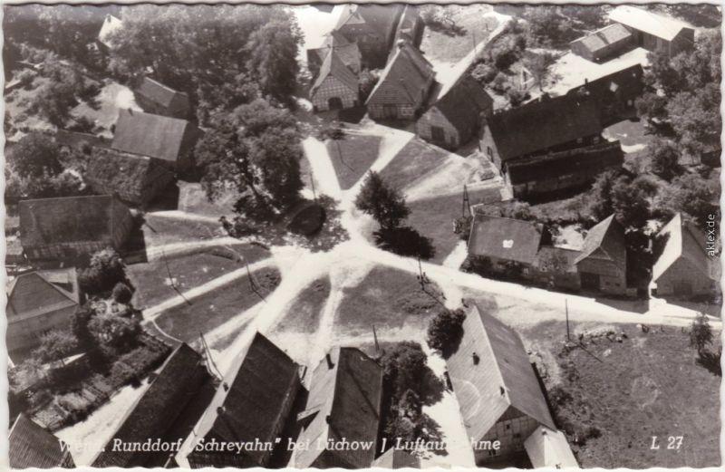 Schreyahn-Wustrow (Wendland) Luftbild Runddorf - Lüchow Dannenberg 1968