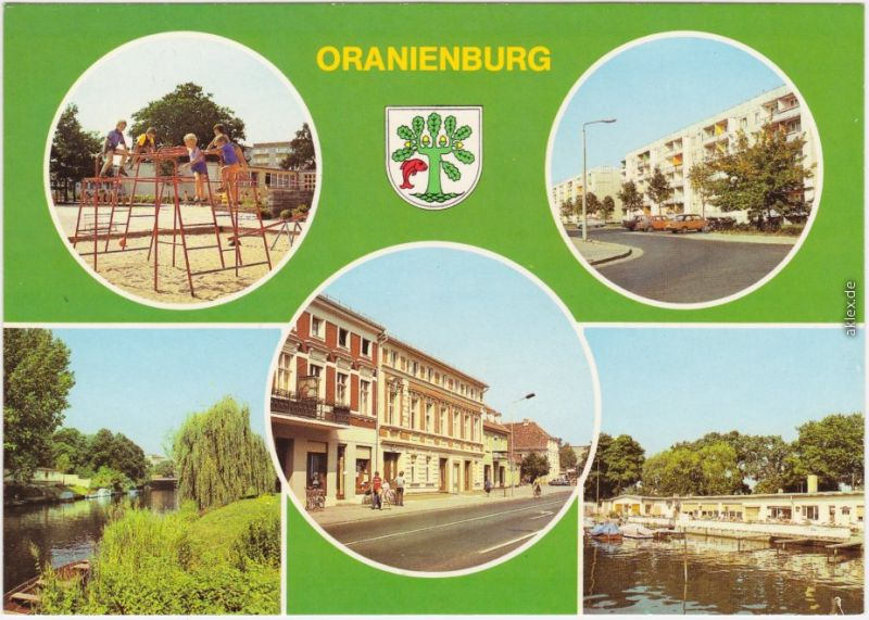 Oranienburg Kinderkombination I im Neubaugebiet Süd, Straße Friedens 1985